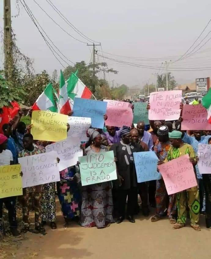 PDP Imo protest