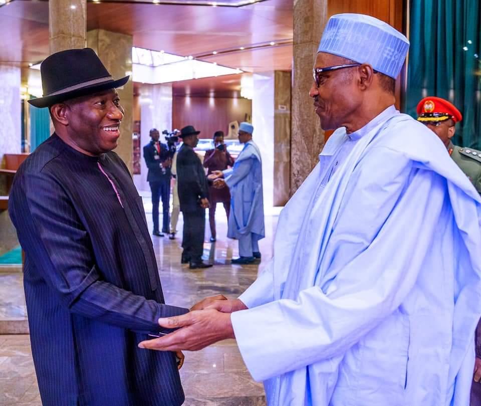 Buhari with Goodluck Jonathan